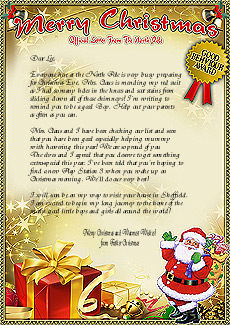 Letters from santa claus send a magical letter from santa letters from santa spiritdancerdesigns Images
