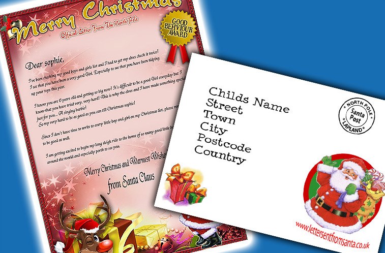 Santa letters send a magical letter from santa uniquely designed a4 letters from santa in a choice of colourways to suit your preference complete with handwriting styled font from santa claus spiritdancerdesigns Gallery